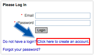 create an account dialog box