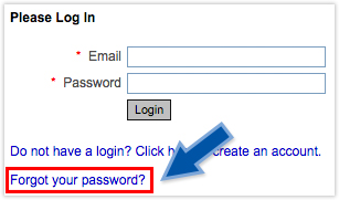 forgot password dialog box